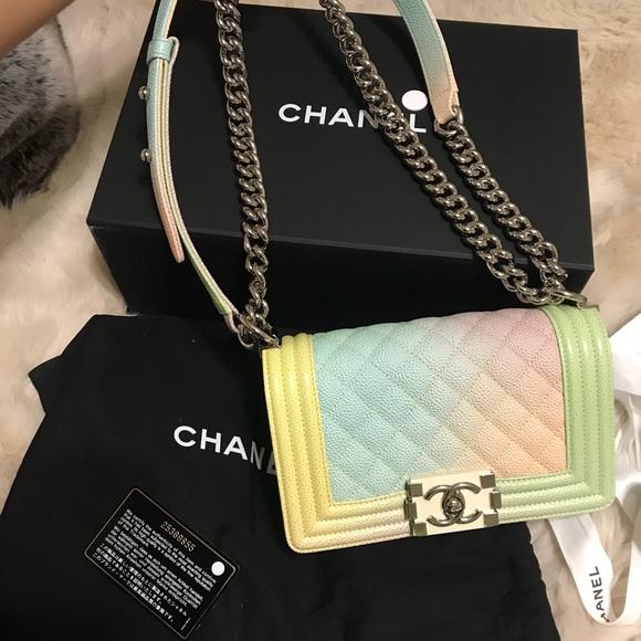 3f6a98a1362fa9 CHANEL Bags | Rare Ivory Rainbow Boy Bag | Poshmark